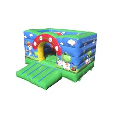 Small Toddler Bouncers : Mushroom Baby Bouncer 3x3.1m AQ2795 www.airquee.co.uk