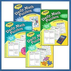 Daily Math Puzzler Power Pack Combo by Laura Candler - Daily math problem solving made easy! Differentiate instruction by using a variety of levels depending on the needs of your students. Save $ when you purchase these ebooks as a combo pack. Complete previews available for all four books. $