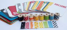 Project Life  Slate  Card Pack plus Washi Tape by StickerStop, $19.00