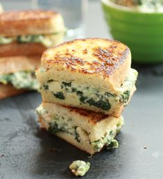 Grilled Spinach/Artichoke/Chicken Sandwich