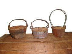 Antique Smelting Pots  Mining Pots  Gold Rush   by thelongacreflea