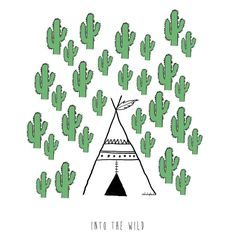Part d'un nou projecte personal... ja veurem si expo làmines o producte ::into the wild:: l'anduluplandu  salvatge! ;) #wild #illustration #teepee #cactus #dibujaleao #drawing ::comingsoon:: by anduluplandu