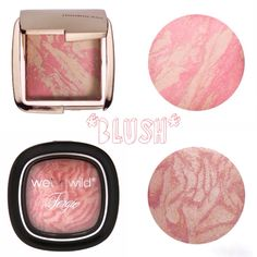 Dupe Alert glamour babes!!! Fergie's Rose Champagne Glow palette by Wet n Wild ($6) reminded me of the Hourglass Ambient Luminous Flush Blush ($35). Both are a rose champagne colored highlighter/blush that are finely milled and give off a pretty multidimensional iridescence to skin lasting for hours. Stay beautiful! Xo.