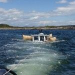 90-year-old lobsterman survives sinking off Maine. I dig the floaters , so cool to see you can try and salvage a boat with these devices.  Awesome.