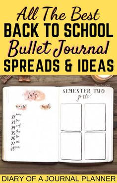 Make the back-to-school season easy by creating a bullet journal for students! Read here for the ultimate guide including the must have spreads! #bulletjournal #bujo #bulletjournalstudents #backtoschool #bulletjournalbeginners Back To School Bullet Journal, Creating A Bullet Journal, Bullet Journal Key, Bullet Journal Tracker, Bullet Journal Spread, Bullet Journals, Bullet Journal Layout Templates, Bullet Journal Contents, Bullet Journal Printables