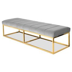 Modern Bench Modshop Miami, Modshop Dallas, Modshop New York, Los Angeles Ottoman Bench, Chair Bench, Dining Room Chair Cushions, Bench Furniture, Wayfair Living Room Chairs, New Furniture, Accent Chairs For Living Room, Steel Furniture, Farmhouse Table Chairs