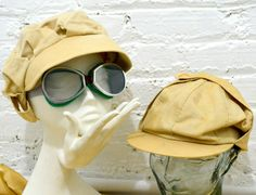 Motoring Goggles and Cap: These accessories were used for driving to keep the driver clean and able to see. Edwardian Era, Edwardian Fashion, Drawing Hats, A Little Night Music, Plus Games, Duster Coat, Cap, Costumes, Womens Fashion