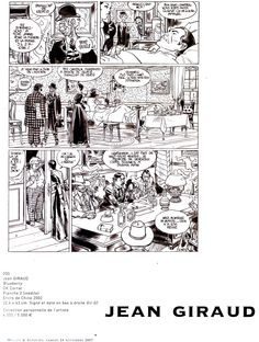 Jean Giraud / Moebius 2002 - Page from Blueberry - OK Corral India ink