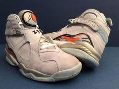 2007 Nike Air JORDAN RETRO 8 VIII ICE BLUE ORANGE BLAZE 316836-401 WMNS Sz 9 #Nike #BasketballShoes