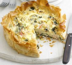 There's no need to make pastry for this tart, just buy a packet of filo. The leftovers are great for packed lunches too