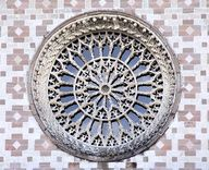 Italy, L'Aquila, Basilica of Santa Maria di Collemaggio Rose Window, Rare Species, Santa Maria, Stained Glass, Decorative Plates, Objects, Windows, Antiques, Balconies