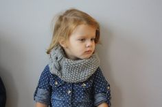 Handmade knit toddler Cabled Scarf Cowl by MaxOliviaKnitwear