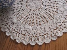 Check out this item in my Etsy shop https://www.etsy.com/listing/213110429/ecru-crocheted-doily-vintage-doily