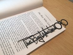 """Harry Potter 3D Printed Bookmark """"The Boy Who Lived"""" by Bespoke3DPrinting on Etsy https://www.etsy.com/listing/217033599/harry-potter-3d-printed-bookmark-the-boy"""