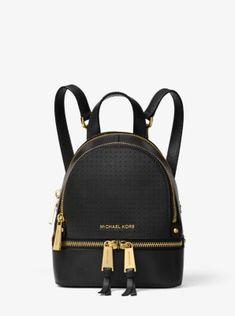 Rhea Mini Perforated Leather Backpack  a29c7126ebabc