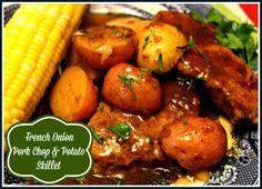 Sweet Tea and Cornbread: French Onion Pork Chop & Potato Skillet!