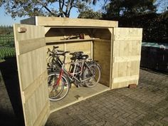 8 Shed Plans 5650176103 Motorcycle Storage Shed, Bicycle Storage, Bike Shed, Outdoor Storage Sheds, Storage Shed Plans, Range Velo, Backyard, Patio, Outdoor Living