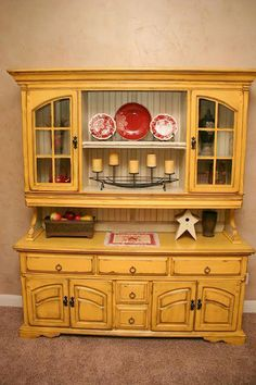 Doubletake Decor: China Hutch Surgery after Refurbished Furniture, Repurposed Furniture, Shabby Chic Furniture, Painted Furniture, Painted China Cabinets, Painted Hutch, China Cabinet Decor, Hutch Makeover, Furniture Makeover