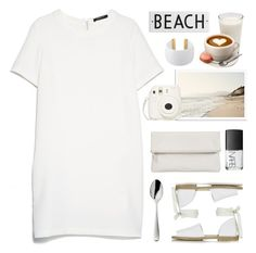 """whites"" by yellow-rose-1 ❤ liked on Polyvore featuring MANGO, NARS Cosmetics, Whistles, Topshop, Robbe & Berking, Rosanna and Gogo Philip"