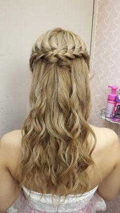 編み込みハーフアップ | 松戸・新松戸の美容室 hair space COCO 松戸店のヘアスタイル | Rasysa(らしさ)