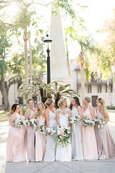 Romantic Modern Wedding at The Treasury on The Plaza St. Unique Wedding Venues, Unique Weddings, Spring Wedding, Dream Wedding, Extravagant Wedding Dresses, Mismatched Bridesmaid Dresses, Bridesmaids, Groom Reaction, Wedding Pictures