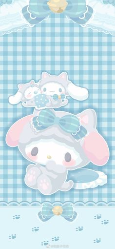Sanrio Wallpaper, My Melody Wallpaper, Hello Kitty Wallpaper, Kawaii Wallpaper, Blue Wallpapers, Wallpaper Backgrounds, Sanrio Danshi, Hello Kitty My Melody, Study Planner