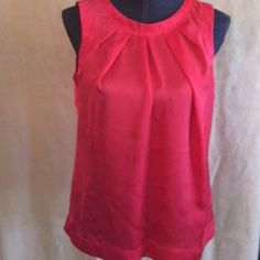 Red silk shell Beautiful red silk shell!!! So ready for a night out with jeans or slacks! Under a jacket or just by itself!!make it a posh in a box and save and receive a beautiful keepsake box Investments Tops Camisoles