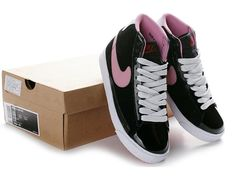 Nike Blazer Women High Cut Shoes Black Pink-$112