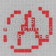 ECO 550 Homework Chapters