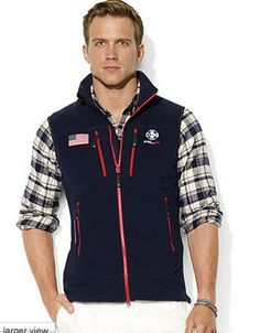 3a2f330b68 Polo Ralph Lauren Usa Polar Fleece Mockneck Vest in Blue for Men (navy) -  Lyst