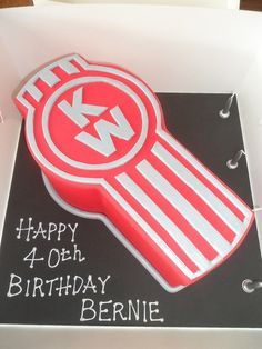 Kenworth Logo Cake by kylie.cakes, via Flickr cute idea for my dad.