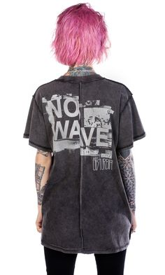No Wave T-Shirt #disturbiaclothing disturbia destroyed rebuilt vintage washed inside out metal alien goth occult grunge alternative punk
