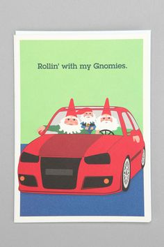 Rollin' With My Gnomies holiday card #urbanoutfitters