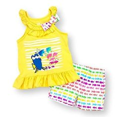 #Christmas Deals for Disney Finding Dory Short Set Tank Top Ruffles and Bow (2T) for Christmas Gifts Idea Shoppers . For the reason that Christmas  season shuts throughout, it really is period to think about just what reward you may be providing a special someone  this coming year. Presenting something that has a pa...