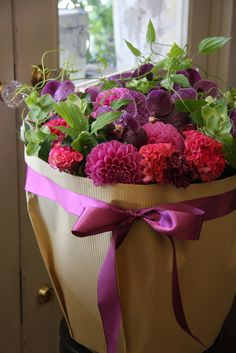 dahlia,orchid and celosia