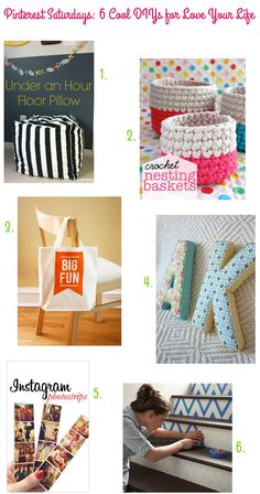 Pinterest Saturdays: 6 Cool DIYs for Love Your Life on Style for a Happy Home