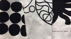 Three remnant pieces of Marimekko black and white Canvas prints
