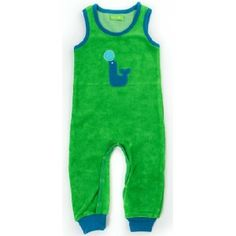 Lily-Balou terry jumpsuit Seal classic groen - kiddiffit.com