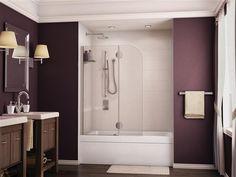 Fleurco Evolution Monaco Round Top Tub Shield with Fixed Panel Glass Shower, Shower Tub, Bathtub Enclosures, Monaco, Round Bath, Stone Bathtub, Bath Screens, Bathroom Renos, Bathroom Ideas