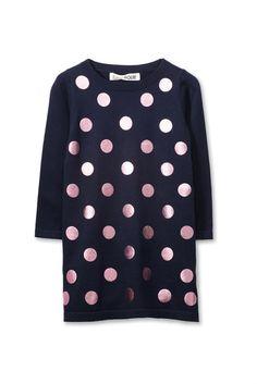 109a3cd5bfb Girls Didi Knit Dress from Cotton:On Knit Dress, Polka Dot Top, Mesh
