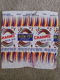 Blow Pop wrapper (circa 1970s)