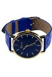 LANDFOX 2016 Unisex Casual Geneva Faux Leather Quartz Analog Wrist Watch Blue