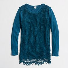 Already have this in 3 colors. Why not more? >> J Crew Factory lace-front tee
