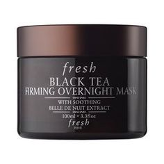 Fresh - Black Tea Firming Overnight Mask. Has peptides, a potent antioxidant, is water-based for hydration, and is formulated for my combination skin with glycerin, Sodium Hyaluronate, shea butter, jojoba oil, and Hyaluronic Acid.
