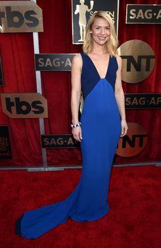 Claire Danes in Stella McCartney // #SAGAwards 2016: http://thecut.io/1VRIMQn