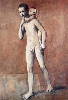 amare-habeo: Pablo Picasso Two Brothers (Les deux frères), 1906 Kunst Picasso, Art Picasso, Picasso Paintings, Picasso Portraits, Georges Braque, Picasso Rose Period, Cubist Movement, Spanish Painters, Two Brothers