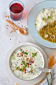 ... Dip :: Cucumber Raita with roasted garlic :: Lehsuni Kheere ka Raita