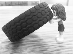 "Lego ""Strongwoman"" Tire Flip by Gotta Run"