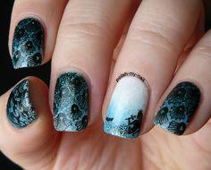 Polish My Nail: Syrenki. Mermaids. #teal #bornprettystore #stamping
