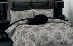 Margaux - 100% cotton and your shades of grey bed :-)